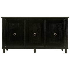 Ebonized Credenza or Buffet, Handmade in Chicago in Any Dimension or Finish