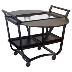 Ebonized Edward Wormley Betwood Bar Cart for Dunbar, 1950s