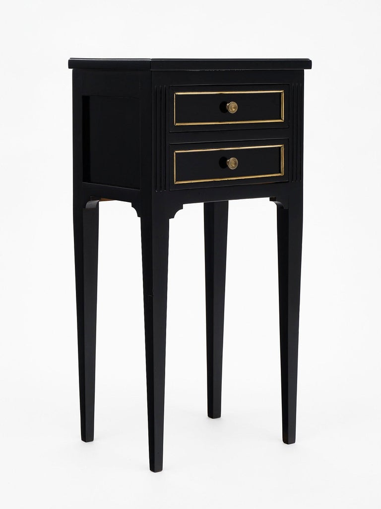 French Ebonized Louis XVI Style Side Tables For Sale