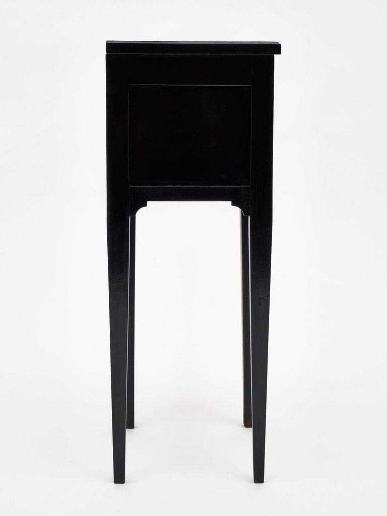 Brass Ebonized Louis XVI Style Side Tables For Sale