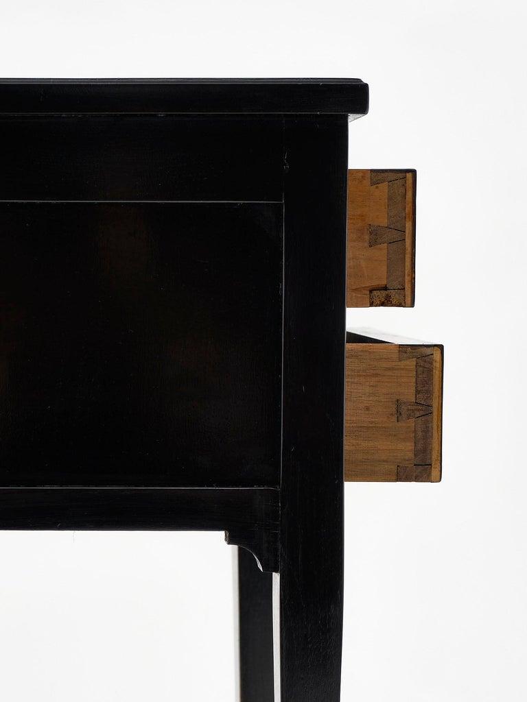 Ebonized Louis XVI Style Side Tables For Sale 2
