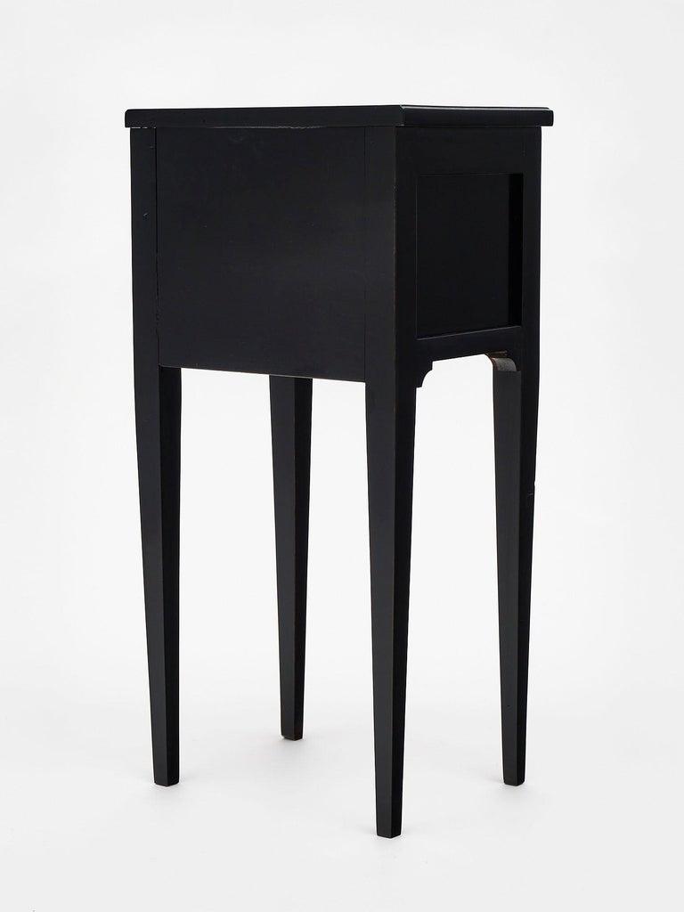 Ebonized Louis XVI Style Side Tables For Sale 3