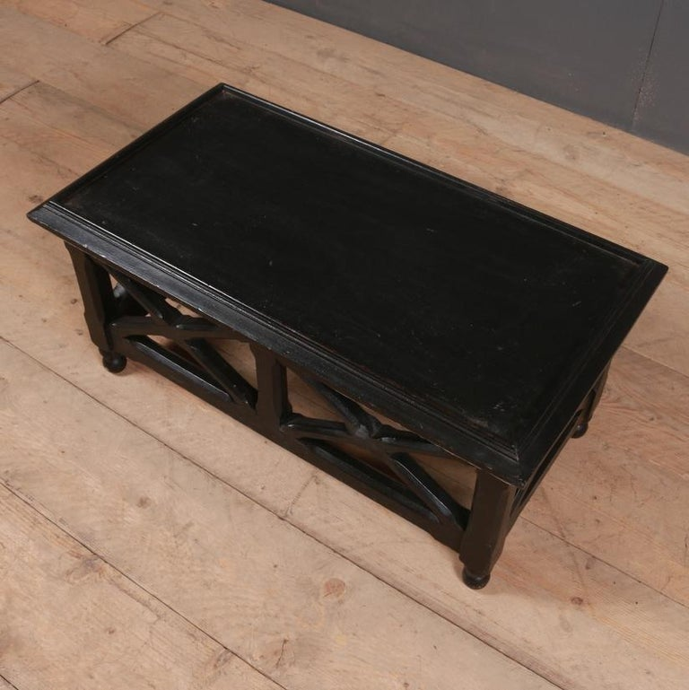 Victorian Ebonized Low Lamp or Coffee Table For Sale