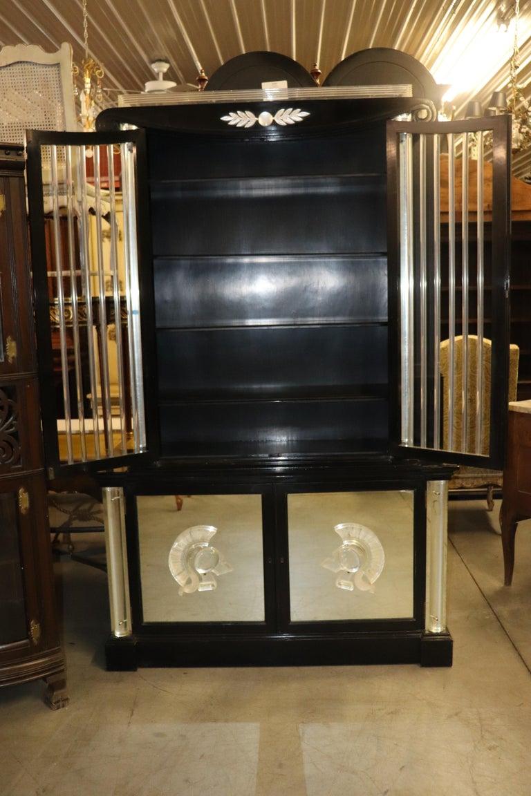 Ebonized Lucite Mirrored Lorin Jackson Grosfeld House Hollywood Regency Vitrine For Sale 7