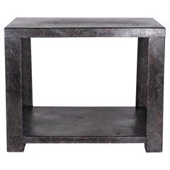 Ebonized Metal Industrial Table