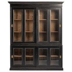 Ebonized Museum Cabinet