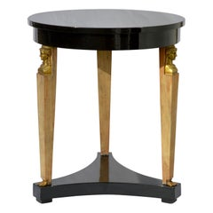 Ebonized Neoclassical Side Table by Baker