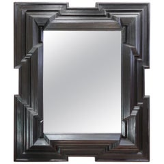 Ebonized Neoclassical Wall Mirror, Netherlands, 19th Century