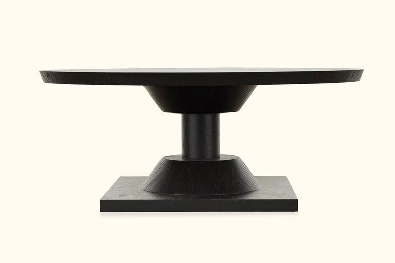 Mid-Century Modern Ebonized Oak Morro Coffee Table by Lawson-Fenning, in Stock For Sale