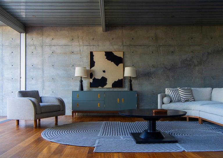 Contemporary Ebonized Oak Morro Coffee Table by Lawson-Fenning, in Stock For Sale