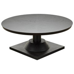 Ebonized Oak Morro Coffee Table by Lawson-Fenning, in Stock