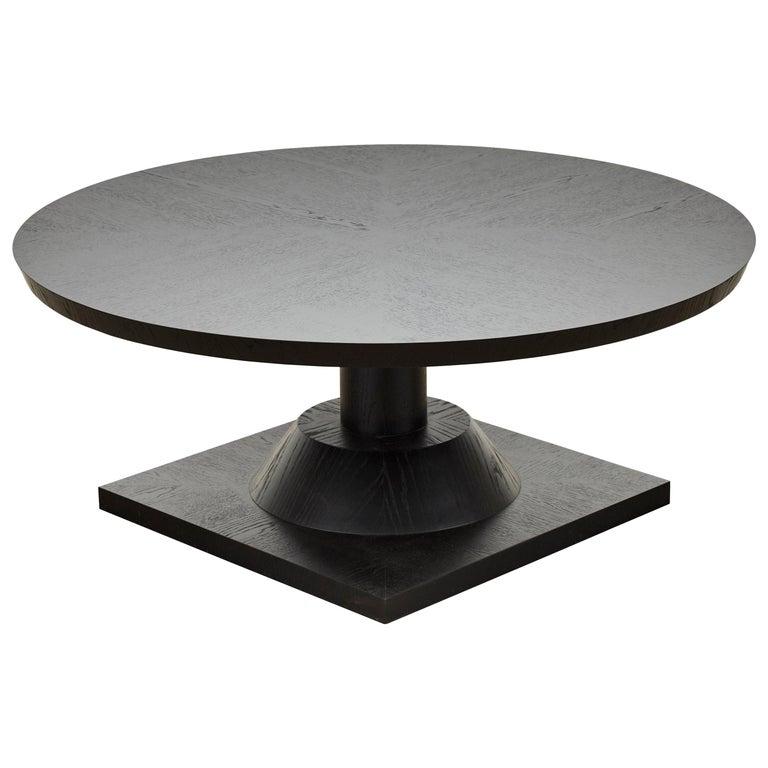 Ebonized Oak Morro Coffee Table by Lawson-Fenning, in Stock For Sale