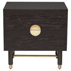 Ebonized Oak Niguel Nightstand by Lawson-Fenning