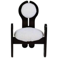 Ebonized Pine Handcrafted Studio Armchair by Szedleczky Design, Hungary, 1970s