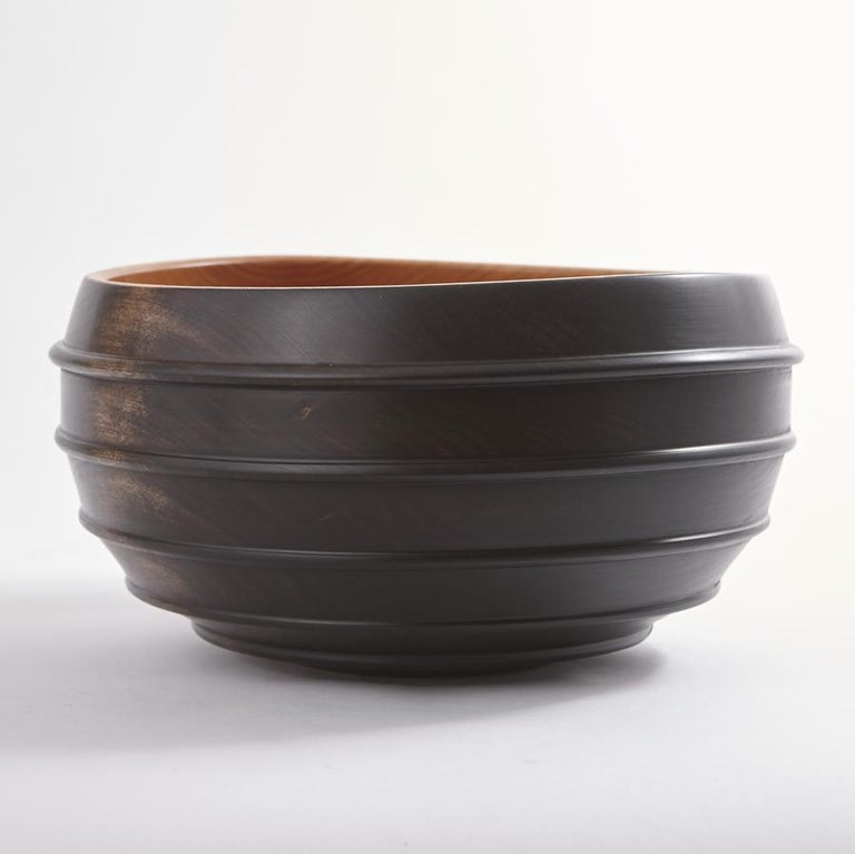 An exclusive series of beautifully turned and ebonized cherrywood bowls from Scott Alexander, of Alexander Designs. The bowls are turned from green (unseasoned) timber to finished thickness. As they dry they take on an organic shape all their own,