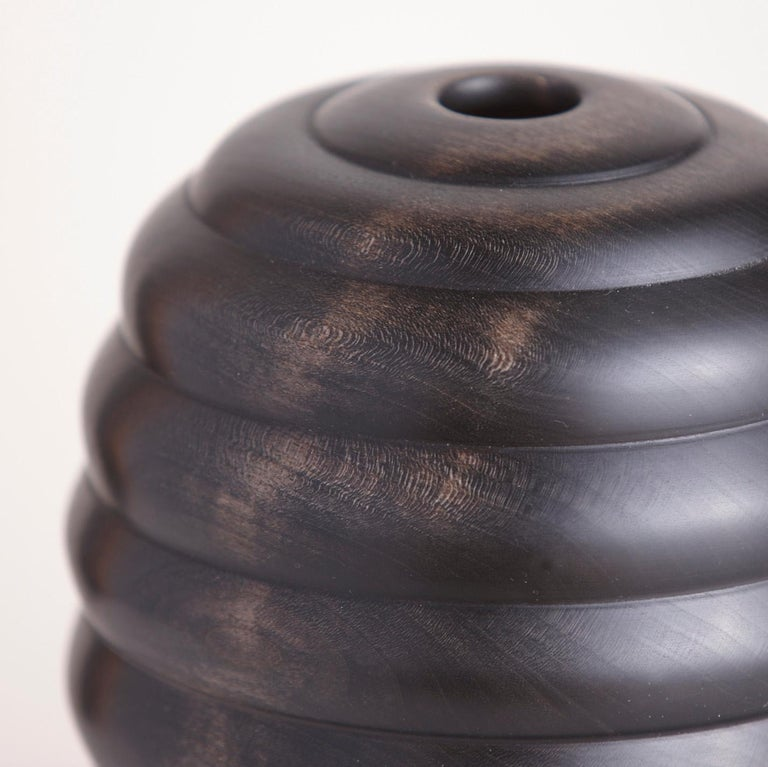 American Ebonized Turned Cherrywood 'Hive' Vessel No. 2 For Sale
