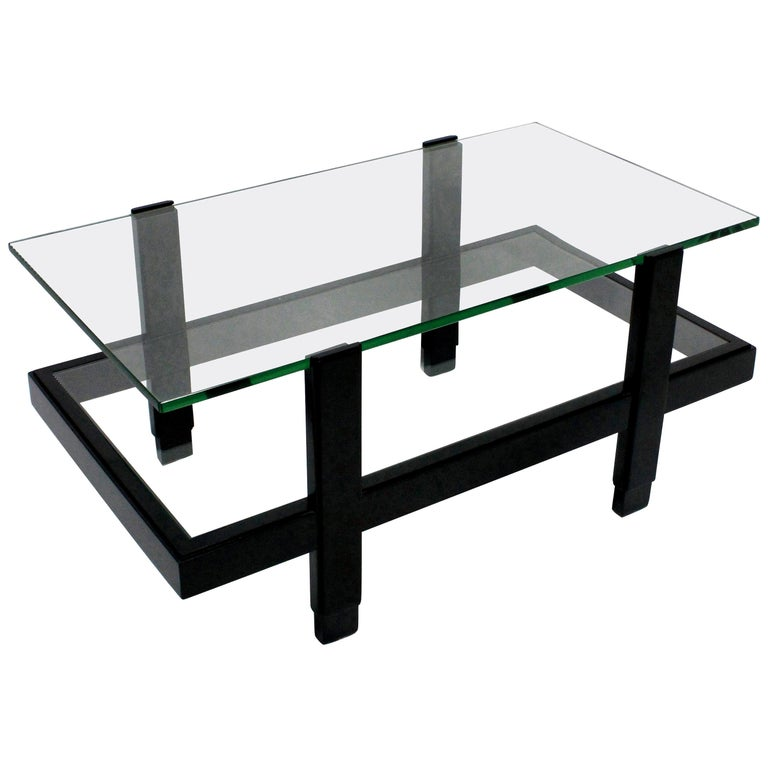 Ebonized Two-Tier Occasional Table
