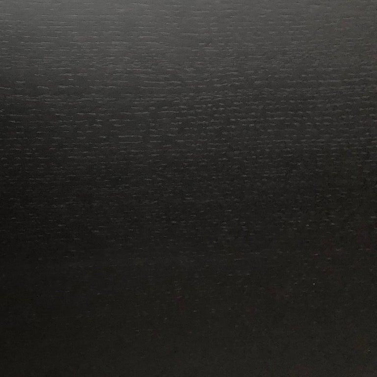 Italian Ebonized Wood All Black MiMi Desk by Miduny, Made in Italy For Sale