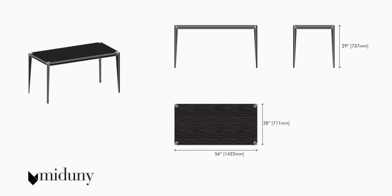Beech Ebonized Wood All Black MiMi Desk by Miduny, Made in Italy For Sale
