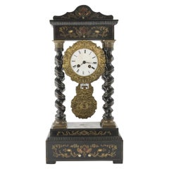 Ebonized Wood Clock, 19th Century