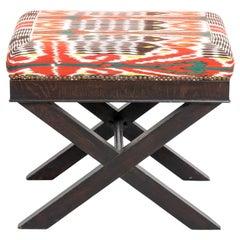 Ebonized Wood X-Form Bench