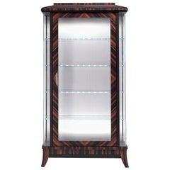 Ebony 1-Door Display Cabinet