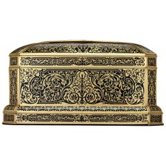 Ebony and Brass Boulle Marquetry Casket by Maison Vervelle