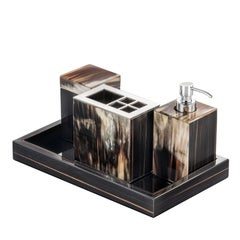 Ebony Bathroom Accessory Set and Tray