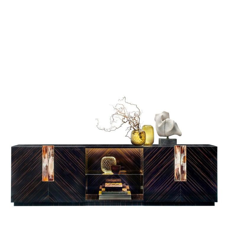 Italian Ebony Cabinet For Sale