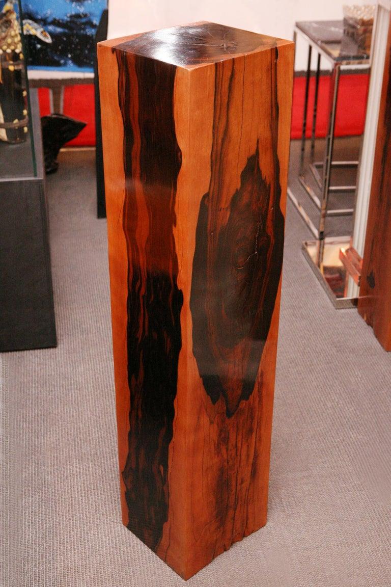 Varnished Ebony Column For Sale