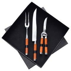 Ebony Cutlery Set for Roast Meat by Nino Basso