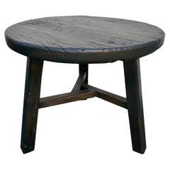 Ebony Elmwood Side Table/Stool