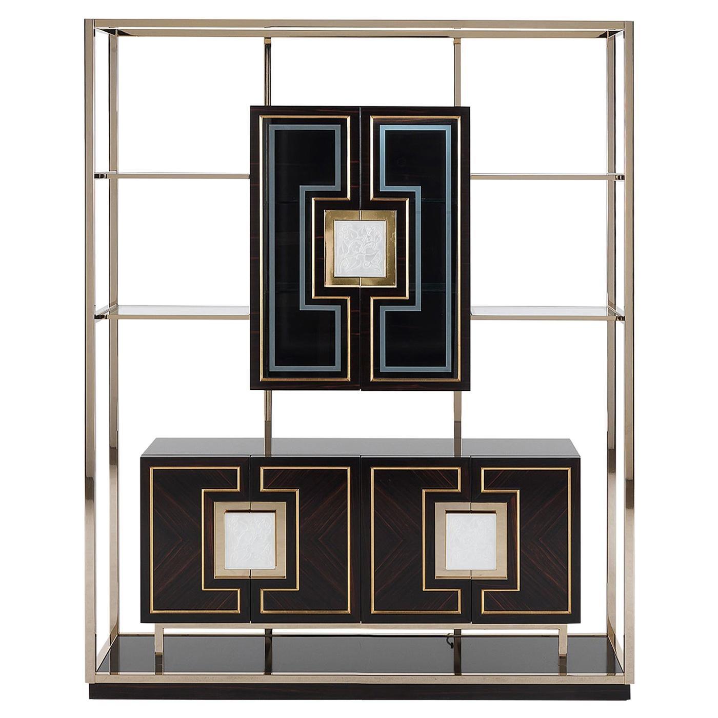 Ebony Glass Cabinet