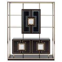 Ebony Glass Cabinet