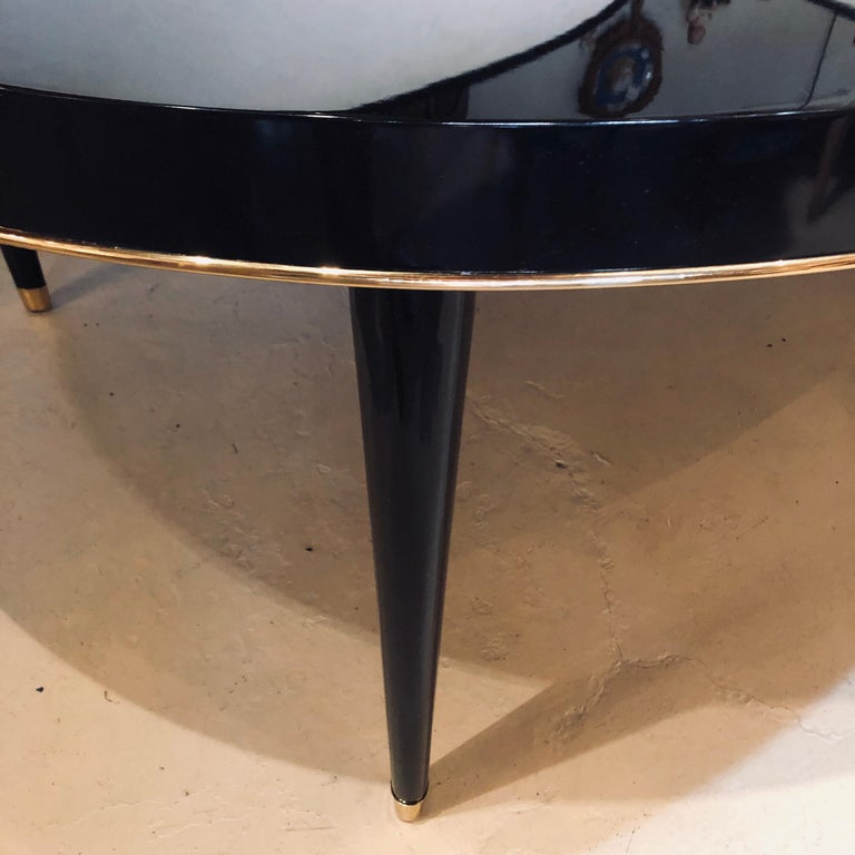 Ebony Lacquered Hollywood Regency Style Ralph Lauren Paris 1 Fifth Dining Table For Sale 1