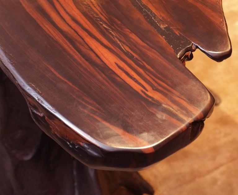 Ebony Massive Side Table For Sale 5