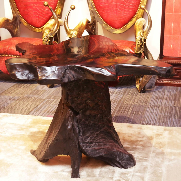 Ebony Massive Side Table In New Condition For Sale In Paris, FR