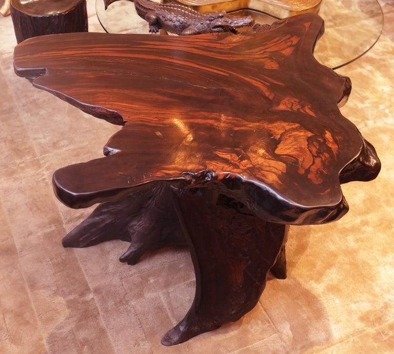 Ebony Massive Side Table For Sale 1