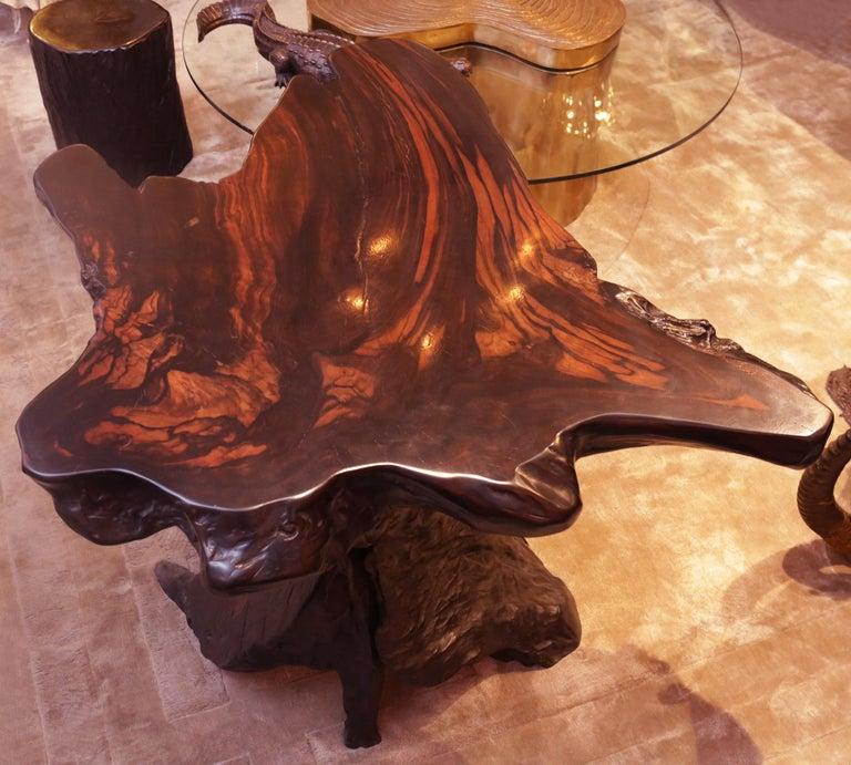 Ebony Massive Side Table For Sale 2