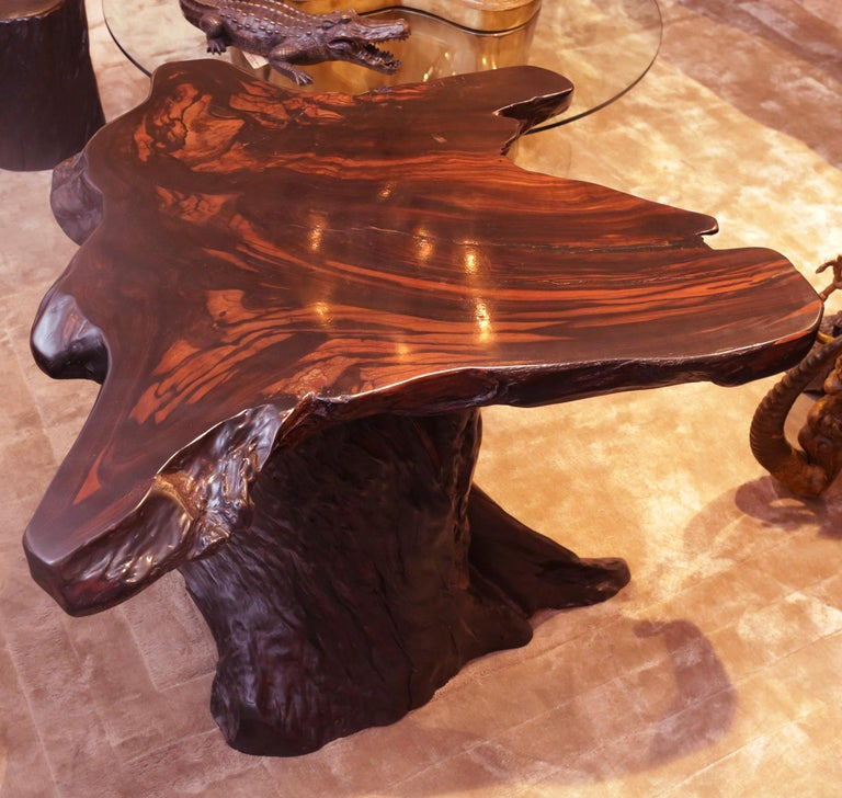 Ebony Massive Side Table For Sale 3
