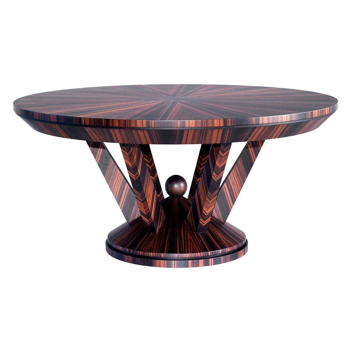 Ebony Round Dining Table
