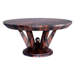 Ebony Round Dining Table