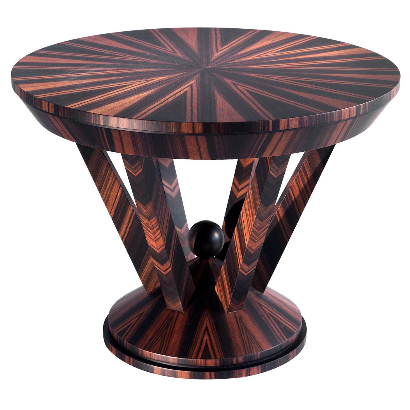 Ebony Round Side Table