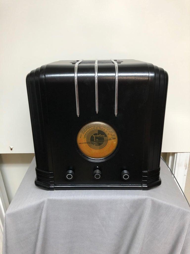 American Ebony Sparton 517-B Radio Walter Dorwin Teague Art Deco Design