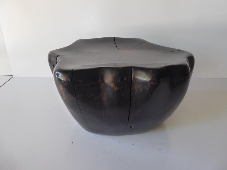 Ebony-Stained Cedar Wood Table by Contemporary American Artist Daniel Pollock For Sale 10