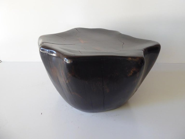 Ebony-Stained Cedar Wood Table by Contemporary American Artist Daniel Pollock In New Condition For Sale In Palm Springs, CA