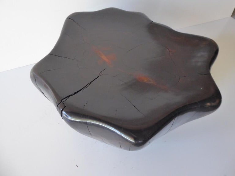 Ebony-Stained Cedar Wood Table by Contemporary American Artist Daniel Pollock For Sale 1