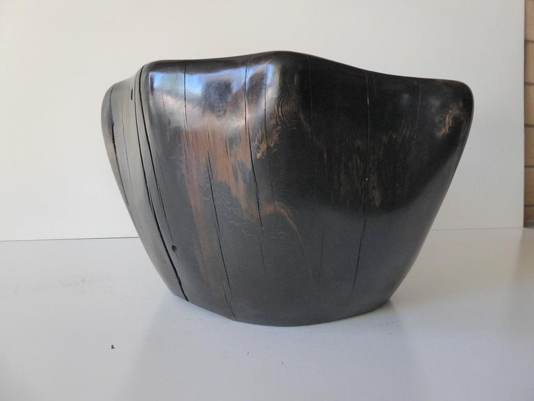 Ebony-Stained Cedar Wood Table by Contemporary American Artist Daniel Pollock For Sale 5