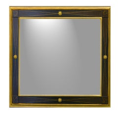 Ebony Star Square Mirror