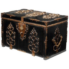 Ebony Veneered Captain's Chest or Strong Box 'Coffre Fort', 17th Century